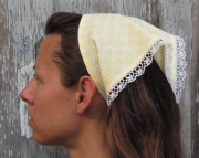 Orange Tatted Lace Kerchief Headband