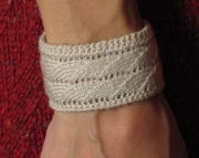 Knitted Bracelet- Lacy Waves