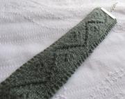 Knitted Zig-Zag Bracelet-sage