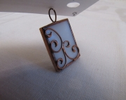 Stained Glass Scroll PendantCopper