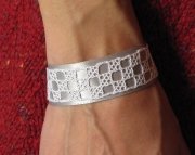 Grey Ribbon Bobbin Lace Bracelet