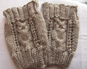 Knitted Owl Bootcuffs