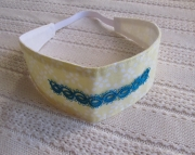 Headband W Tatting Dk. Teal/yellow