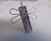 Stained Glass Dragonfly Pendant