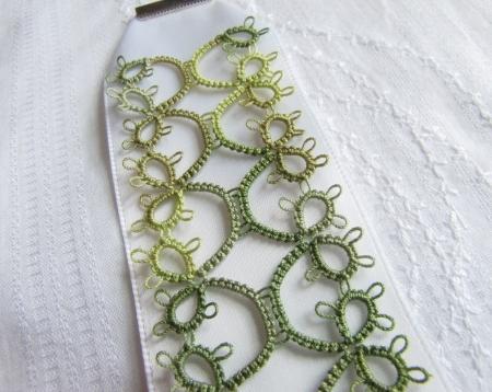 White Ribbon Tatted Bracelet