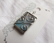 Stained Glass 3 Coils Pendant- blue