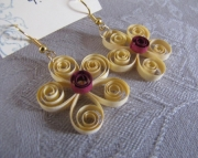 Paper Flower Earrings, Yellow