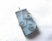 Stained Glass 3 Scroll Pendant