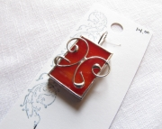 Stained Glass Butterfly Pendant-Red