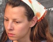 Kerchief Headband with Beaded Crochet Trim