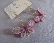 Paper Butterfly Earring, pink