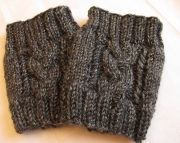 Knitted Vertical Cable Boot Cuffs