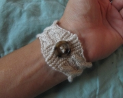 Cable and Twist Bracelet Beige