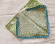 Green and Blue Tatted Lace Kerchief Headband