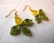 Paper Spring Flower Earrings