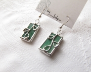Stained Glass Branch Earrings