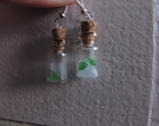 Beach Glass Bottles in Green