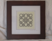 Tatted Lace Motif Grey
