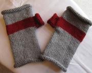 Knitted Fingerless MittensGrey
