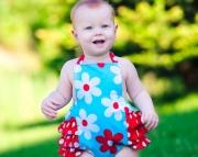 Daisy Rufflebuns Baby Romper