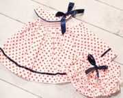 Firecraker Red/White/Blue Smocked Dress with Ruffled Panties