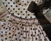 Pink and Brown Handsmocked Dress and Ruffled Panties