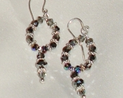Silvery Night Swarovski Crystal Earrings