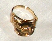 Smokey Quartz Ring, 14k Gold-filled Wire, Size 7 3/4