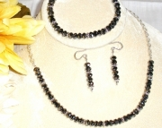 Silvery Night Swarovski Crystal Necklace, Bracelet & Earrings