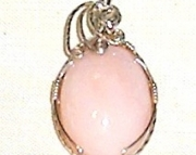 Handmade Cotton Candy Pink Opal Gemstone wrapped in 92.5% Silver wire
