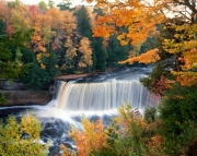 Upper Tahquamenon Falls in the Fall
