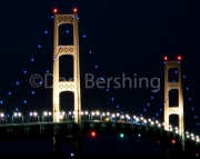 Mackinac Bridge in Blue