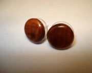 Walnut Burl Wood Post / Stud Earrings