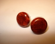 Amboyna Burl Wood Post / Stud Earrings
