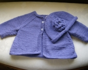 PURPLE BABY SWEATER SET