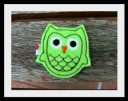 Green Felt Owl Clippie
