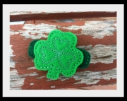 Shamrock Hair Clippie