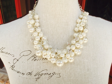 Chunky Pearl Necklace is Perfect for the Bride Or Bridesmaids