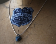Leland Blue Heart Stone Sterling Necklace
