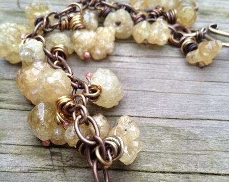 Bubble Druzy Citrine Bracelet