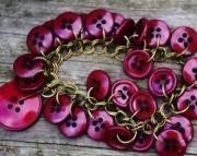 Cabernet Vintage Button Bracelet