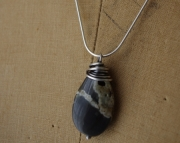 Leland Blue Stone and Sterling Simplicity Necklace