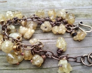Bubble Druzy Citrine Bracelet