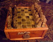 Petoskey Stone Chess Board
