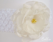 Fabric Flower Headband