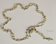 St. Patricks Day,Crochet 10x Wrap Bracelet or 5x Wrap Necklace, 100% Bamboo cord