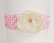 Fabric flower headband OS infant to Adults