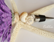 Wine Bottle Stopper- Shell and Flower