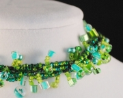 St. Patricks Day, St. Paddys day Beaded Bracelet - Twisted Fringe