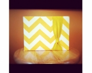 Chevron Guest Book in Sun